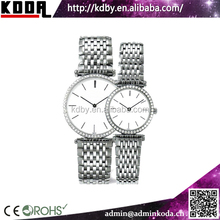 China supplier high quality new arrival stainless steel couple watches gift watch set