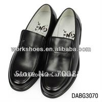 genuine leather mens rubber garden pointed shoes