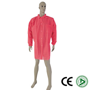 Disposable Clean Room Button Front Short Sleeve Lab Coats