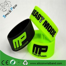 100% quality MusclePharm pulseira muscle pharm BEAST MODE Silicone bodybuilding bracelet Gym wristbands