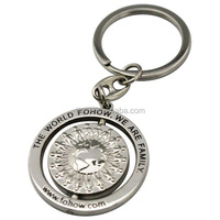 Factory Custom 3D Rotatable Metal Key chain For Gift