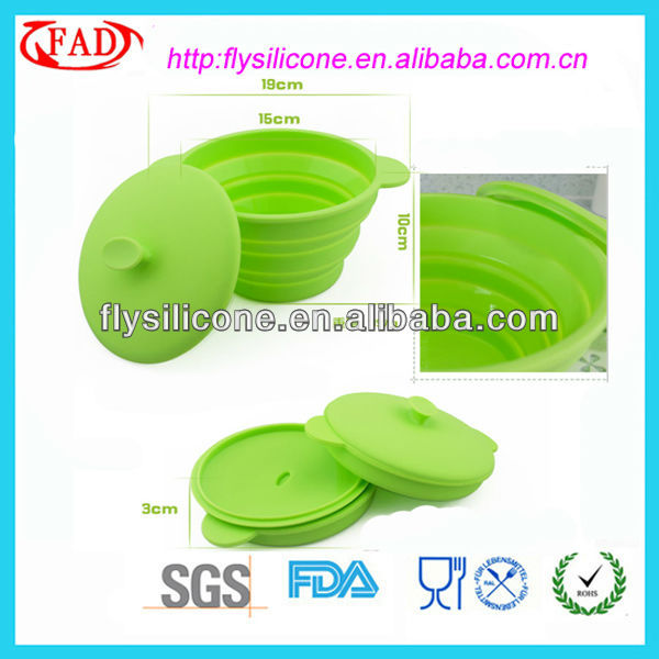 Brand New Folding Silicone Kitchen Bowl l With Silicone Cover Lid FDA&LFGB Approval