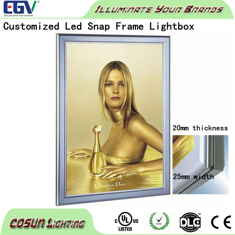 Acrylic open hot sexy girl glowing photo or picture frame LED light box