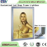 Acrylic open hot sexy girl photo or picture frame light box