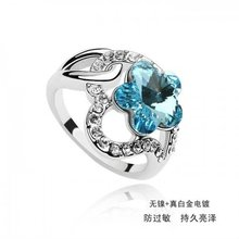 (062574) cheap 2012 trendy turquoise blue stone fashion ring