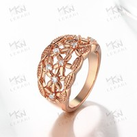 Fashion Zinc Brass Jewelry KZCR108 18K Gold Jewelry King Crown Ring