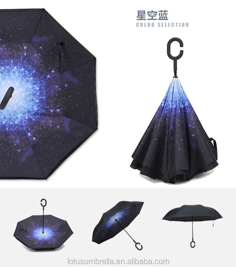 hot sale c handle inverted umbrella