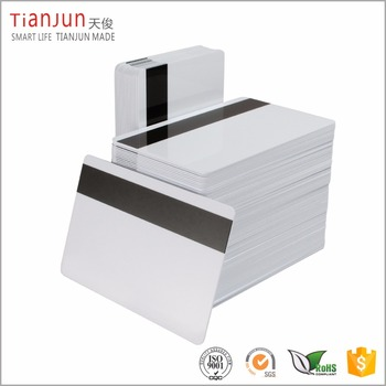 "CR80 30Mil Blank White PVC Plastic Credit/Gift/Photo ID Badge Cards with 5/16"" HiCo Magnetic Stripe"