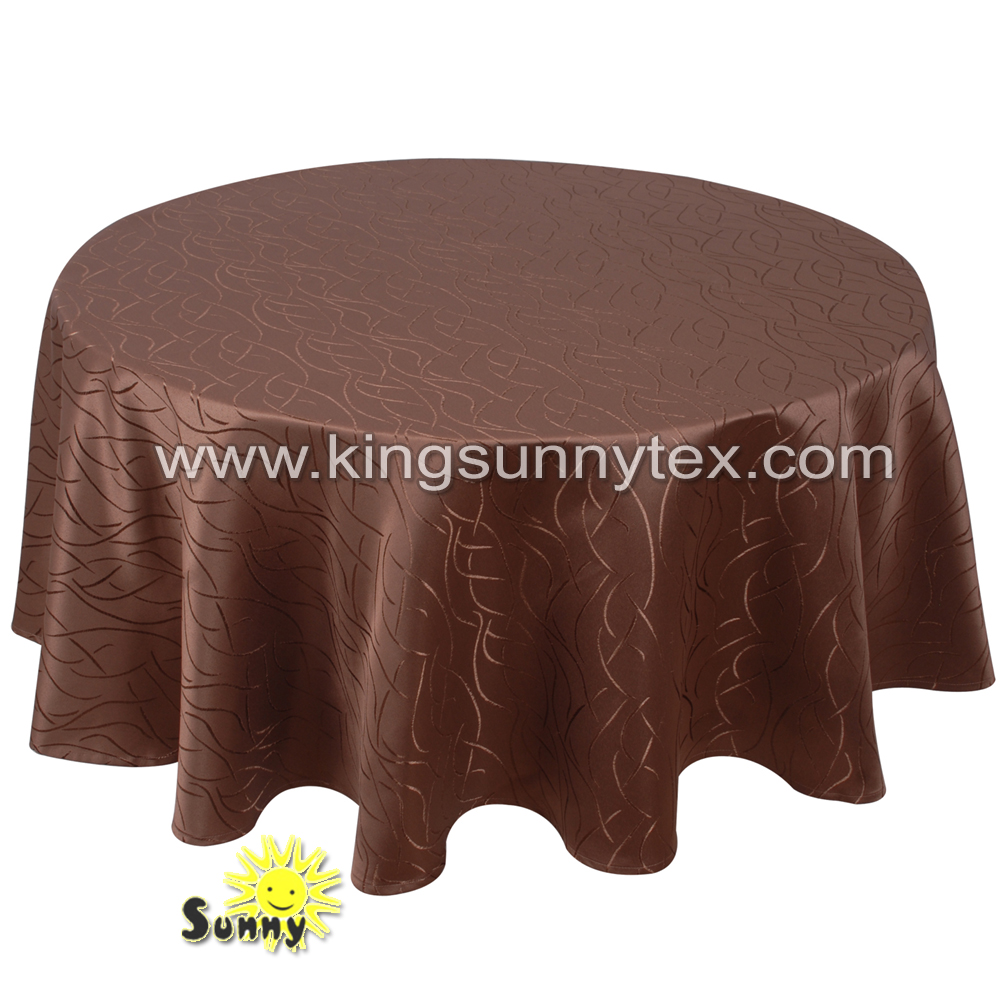 100% polyester round wedding table cloth