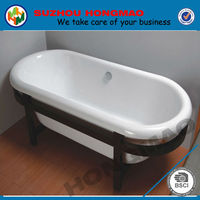 small oval shaped acrylic bathtub