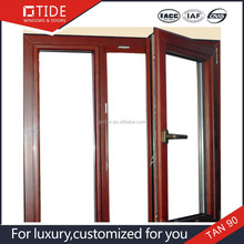 Interior window type,finished surface double panels aluminum with wood window