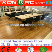 CE Certified JiangXi Factory Carbonized solid strand woven bamboo flooring review
