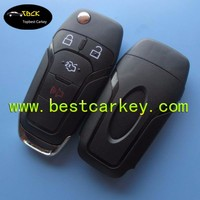 Topbest new style 4 button key covers for flip remote key shell blank key folding case