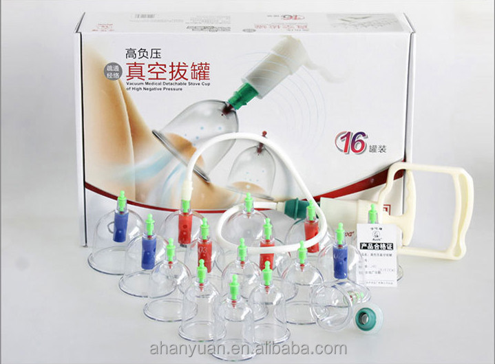 Hwato brand vaccum cupping ,16pieces /set,good quality cupping