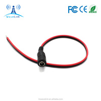 5.5 x 2.1mm DC Power cable With 12V Female Plug Connector Adapter Black Red Wire