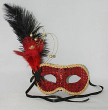 The beautiful ostrich feather mask of Carnival