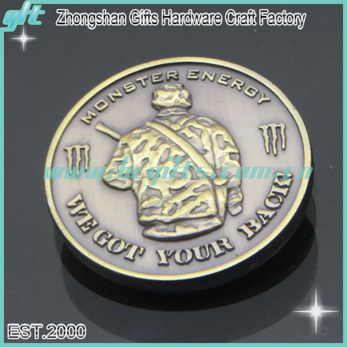 2014 Antique silver 3D design metal ancient coin with logo