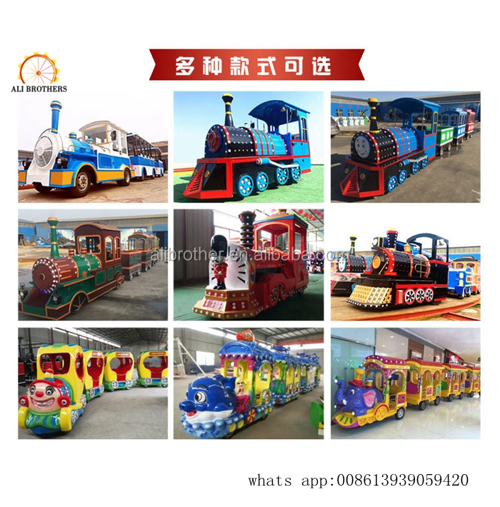 Outdoor Cheap Kiddy Amusement Ride Tourist Mini Electric Trackless Train