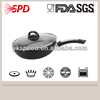 High quality Nonstick/Ceramic pressed Aluminum Black Wok with Bakelite handles and air vent glass lid