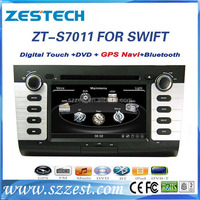 "ZESTECH Brand new 7"" touch screen dvd player for SUZUKI 2004-2010 SWIFT car audio with gps 3g bluetooth TV tuner"