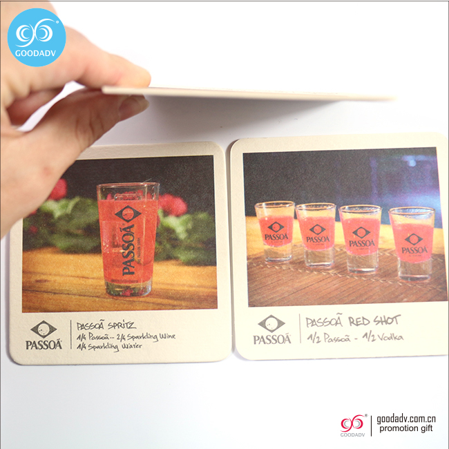 Cheap wholesale drink coaster disposable cup mat