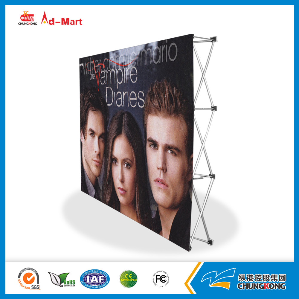 Strengthen Type Aluminum Velcro pop up backdrop banner stand 3*3 metal hook