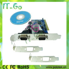 2 Serial port PCI Card RS232 DB9 I/O Card manufacturer