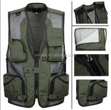 Mens Breathable fishing Sleeveless Vest / Multi Pocket Vest / fishing mesh vest