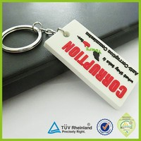 Hot Selling Promotion rectangle PVC/rubber Keyring/Keychain With custom logo
