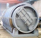 Waste rubber raw material machine tyre to oil pyrolysis plant for sale