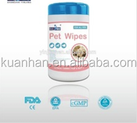 Plastic pet wipe with high quality