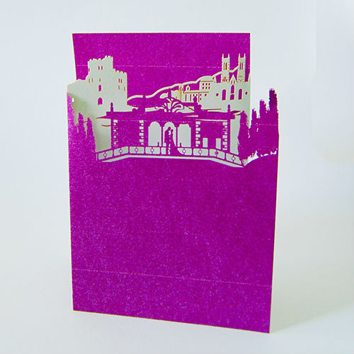 Romantic purple Germany 3d Popup Greeting Cards Kirigami Cards
