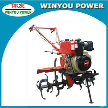 2012 Hot Mini hand tractor!! Farm Work Diesel/Gasoline Tiller with ridger anti-skid plough hoe rotary