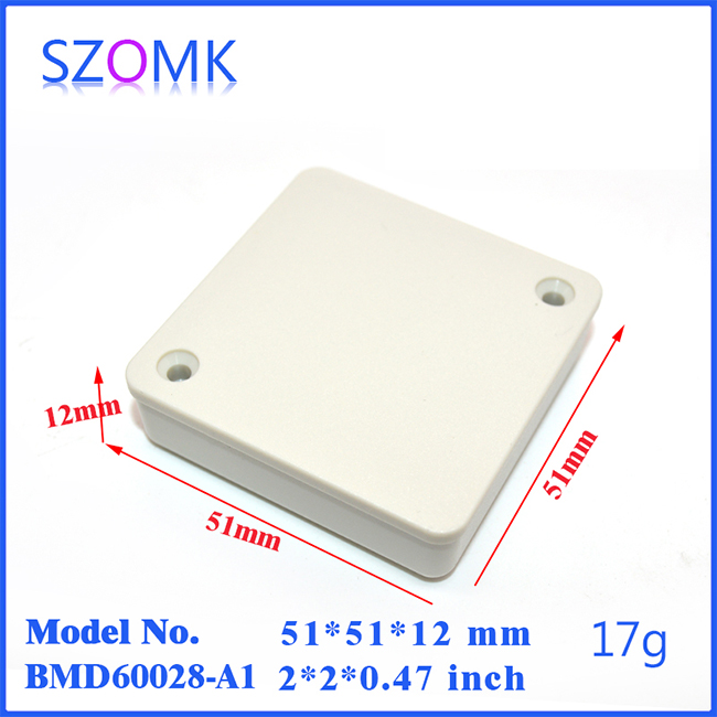 12*51*51mm High Quality Small Plastic Junction Box for Electronics and Project Testing