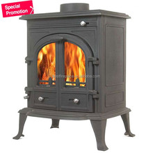 Budget Double Door Cast Iron Stove, Wood Burning Stove, Wood Stove
