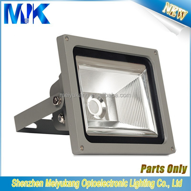 50 watt white aluminum heat resistant light fixture lamp shades metal frame, led flood light housing aluminum die casting