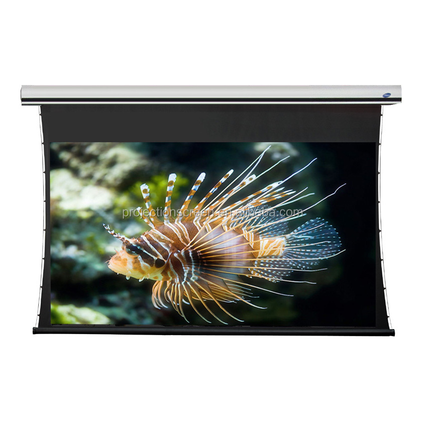 "150 "" Tab-tension Motorized projector Screen with remote control"