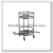 S081 Stainless Steel Wine Service Trolley