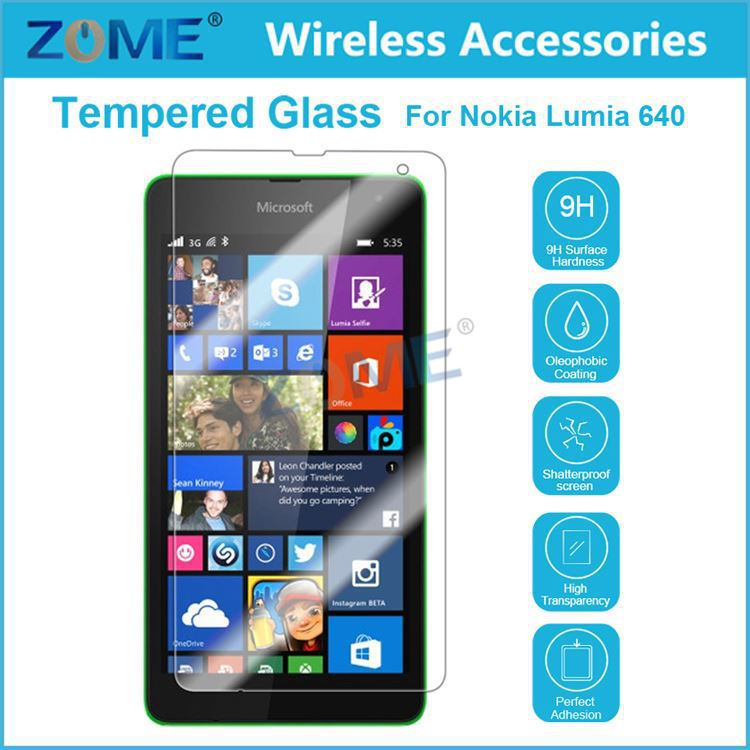 China Market Mobile Phone Accessories Ultra Clear High Definition Tempered Glass Screen Protector for Nokia Lumia 640
