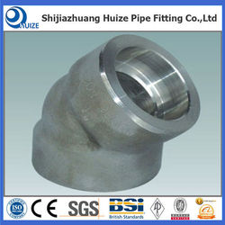 ANSI B16.9 stainless steel socket weld forged pipe fitting 45 degree elbow