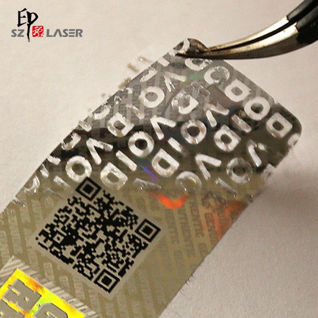 Personalised Embossed Hologram Sticker with Laser Encryption
