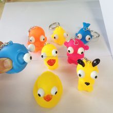 small rubber pop eye animal toy/squeezze animal for kids/keychain animal toy