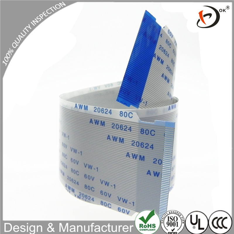 Customized awm 20706 105c 60v vw-1 52 pin ffc cable for fax machine