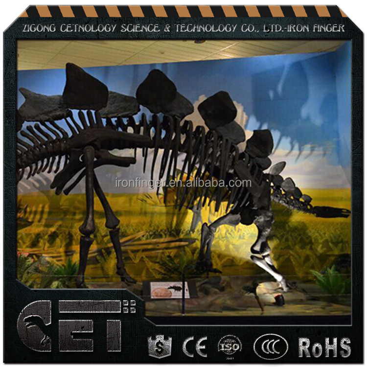 Outdoor artificial dinosaur fossil sculpture for sale