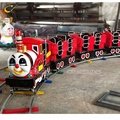 Outdoor Park Amusement Electric Train Cartoon Children Fun Mini Trains for sale