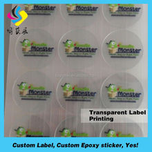 Personalized cosmetics double layer label sticker printing for Plastic Bottle