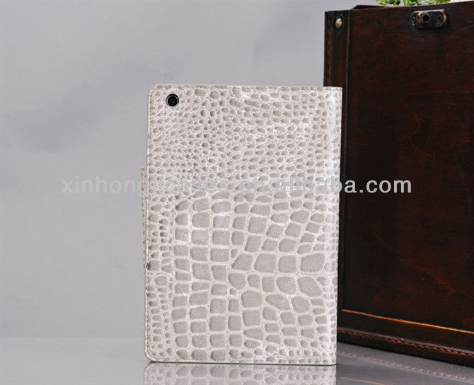 Alligator Pattern Leather cover for Ipad mini