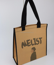 New arrival custom design resuable shopping bag washable kraft paper tote bag for sale