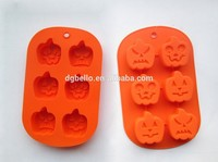 Halloween Design FDA&LFGB Approved Different Pumpkin Expression Shape Baking Silicone Cake Mold