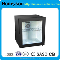 Glass door hotel mini bar fridge professional hotel mini fridge